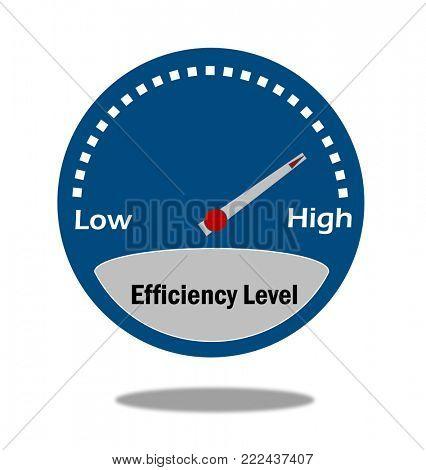 Efficiency level gauge