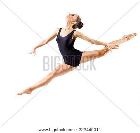 Young ballerina (isolated version)
