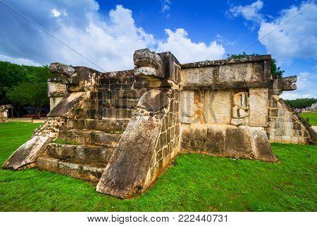 Venus Platform in the Great Plaza of Chichen Itza, Mexico