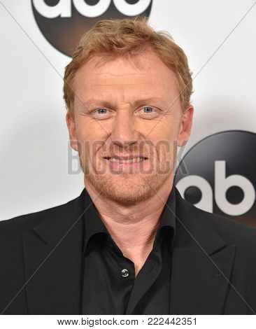 LOS ANGELES - JAN 08:  Kevin McKidd arrives for the ABC Winter 2018 TCA Event on January 08, 2018 in Pasadena, CA