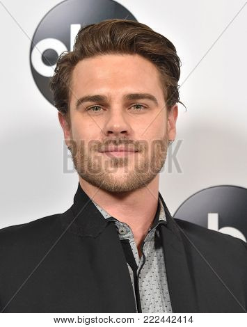 LOS ANGELES - JAN 08:  Grey Damon arrives for the ABC Winter 2018 TCA Event on January 08, 2018 in Pasadena, CA