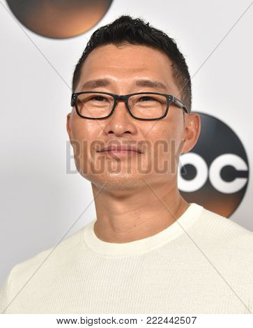LOS ANGELES - JAN 08:  Daniel Dae Kim arrives for the ABC Winter 2018 TCA Event on January 08, 2018 in Pasadena, CA