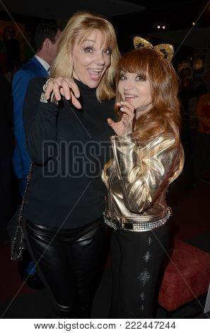 LOS ANGELES - JAN 10:  Teresa Ganzel, Judy Tenuta at the Batman '66 Retrospective and Batman Exhibit Opening Night at the Hollywood Museum on January 10, 2018 in Los Angeles, CA
