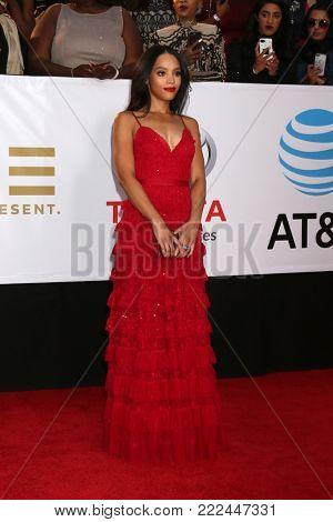 LOS ANGELES - JAN 15:  Bianca Lawson at the 49th NAACP Image Awards - Arrivals at Pasadena Civic Center on January 15, 2018 in Pasadena, CA