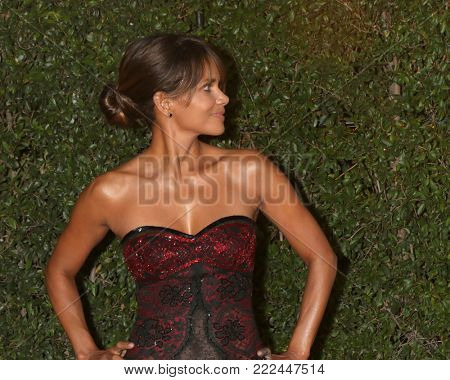 LOS ANGELES - JAN 15:  Halle Berry at the 49th NAACP Image Awards - Arrivals at Pasadena Civic Center on January 15, 2018 in Pasadena, CA