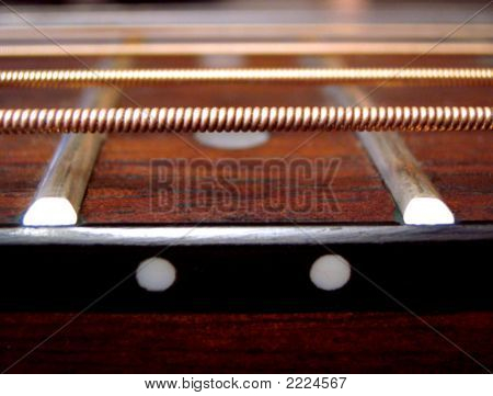 Guitar Fretboard And Strings