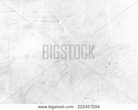 Grey white background texture in soft light concrete paint
