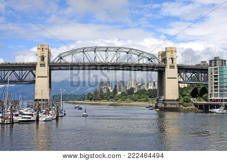 Burrard Street Bridge over False Creek,Vancouver, Canada