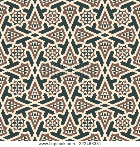 Morocco arabic seamless pattern. Traditional islamic design background.