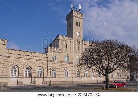 Poland, Radom, Town Hall, sunlit, morning, autumn