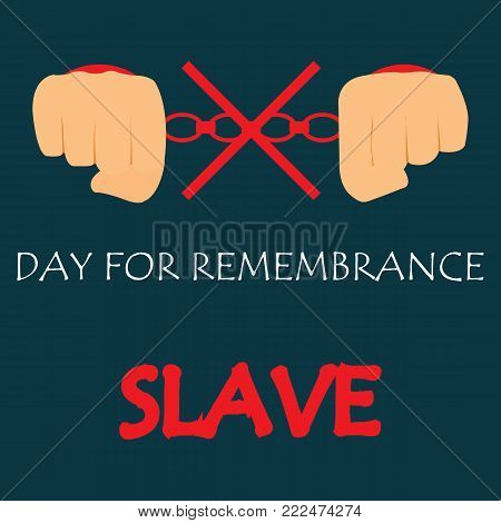 Vector illustration of International Day for the Remembrance of the Slave Trade and Its Abolition.