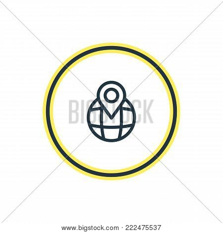 illustration of pinpoint icon line. Beautiful contact element also can be used as location element.