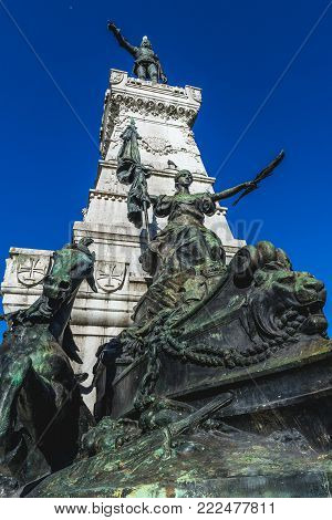 Statue of Prince Henry the Navigator in Porto, Portugal poster