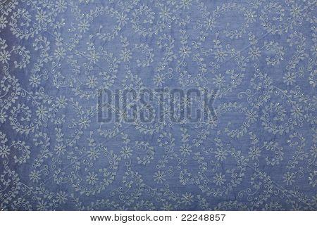 Blue floral handmade art paper