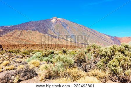 The Teide volcano (Pico del Teide) in Tenerife,  Canary Islands