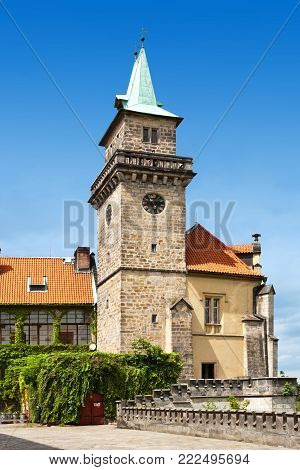 CZECH REPUBLIC, HRUBA SKALA -  MAY 20, 2015:  renaissance castle Hruba Skala, region Czech Paradise, Czech republic. Famous cultural landmark and hotel.