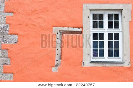 Window and orange wall