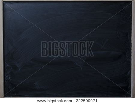 clean black chalk board for drawing with chalk