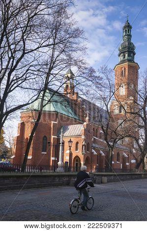 Poland, Radom, St John the Baptist Church, sunlit, autumn