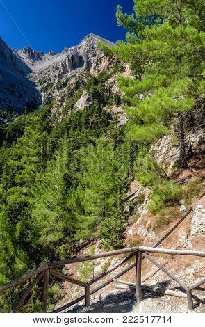 Samaria gorge national park at Crete island, Greece