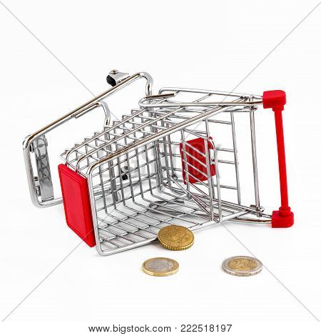 Conceptual representation of a failure, of poverty and being broke.