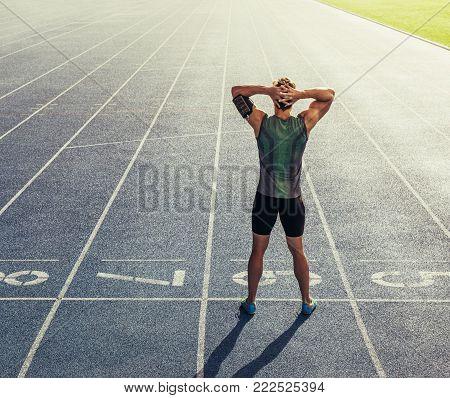 Sprinter Running On Track