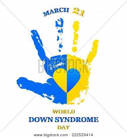 Vector illustration for World Down Syndrome Day on white background