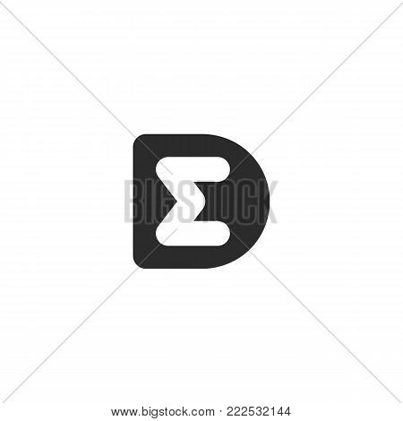 Simple monogram logo made from black letters D and M