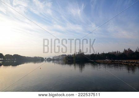 Sunset At West Lake (xihu) In Hangzhou China