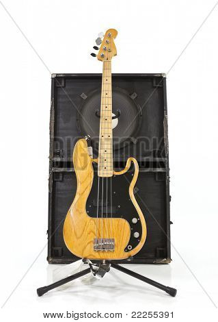 Classic Bass Guitar with a two 15 inch Speaker Box.