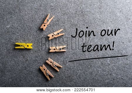 Join our team. Job offer, Hiring and new job concept.