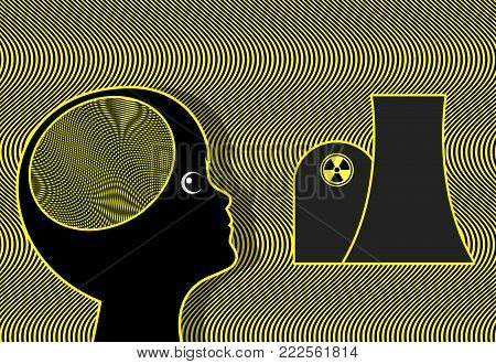 Child exposed to radioactivity. Potential risks for kids around nuclear reactors through radioactive radiation