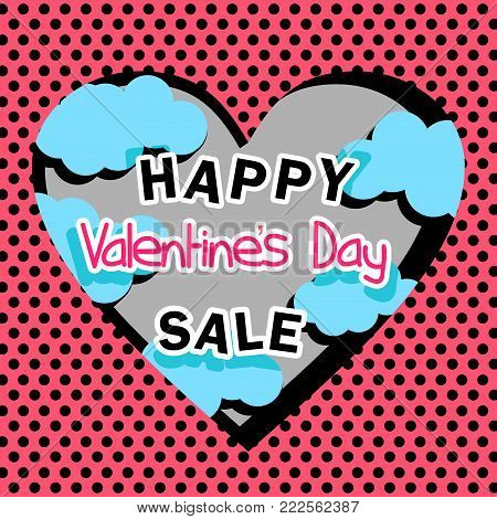 sale Valentine in the style of pop art and emo