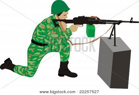 The marksman with a machine gun
