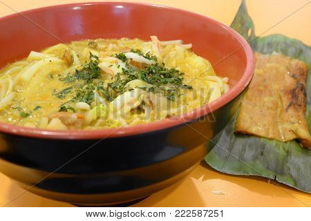 Laksa Is A Popular Dish Eaten By Chinese Communities Throughout Southeast Asia.  It Consists Of Thic