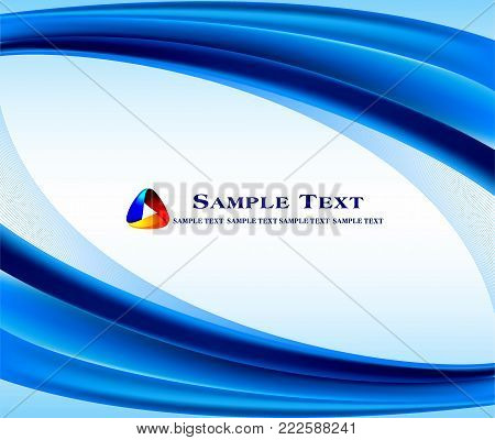Abstract blue background for wallpaper backdrop banners and poster