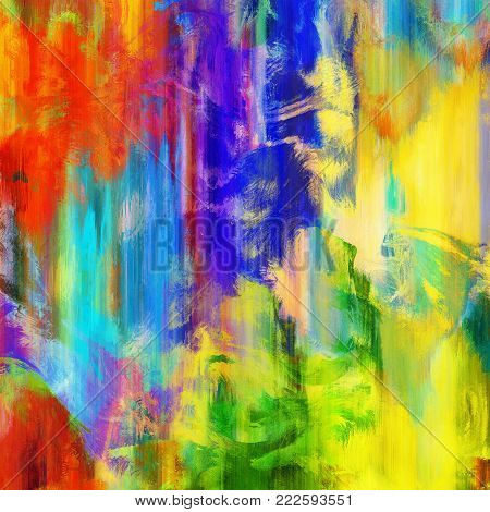 An abstract background texture with vibrant paint strokes.