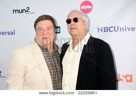 LOS ANGELES - AUG 1:  John Goodman, Chevy Chase arriving at the NBC TCA Summer 2011 Party at SLS Hotel on August 1, 2011 in Los Angeles, CA