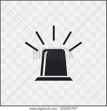 siren icon vector. Flat design image for website.