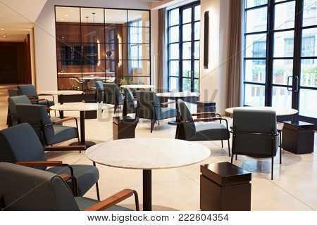 Empty lounge meeting area area in modern business premises