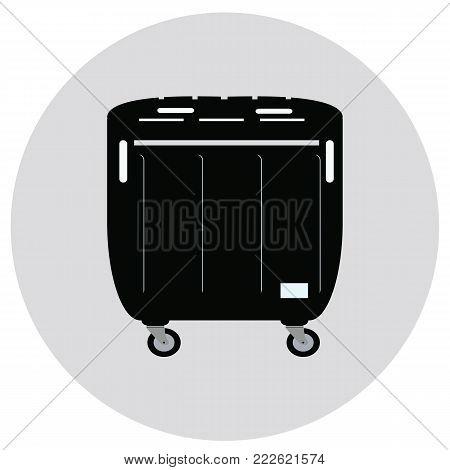 Trash bin icon. Trash bin icon vector.Container icon