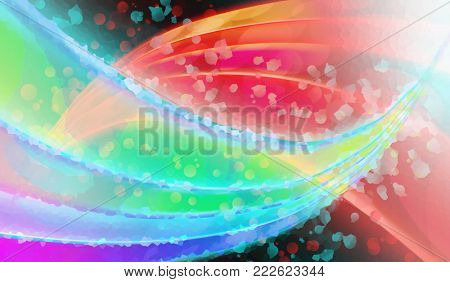 abstract glowing stripes on a dark background