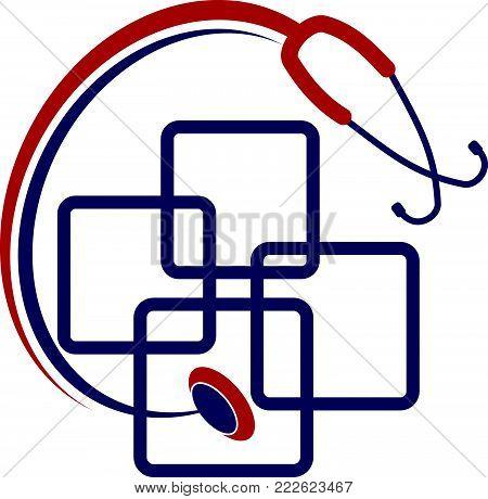 Medical App Billing Logo Design Template Vector