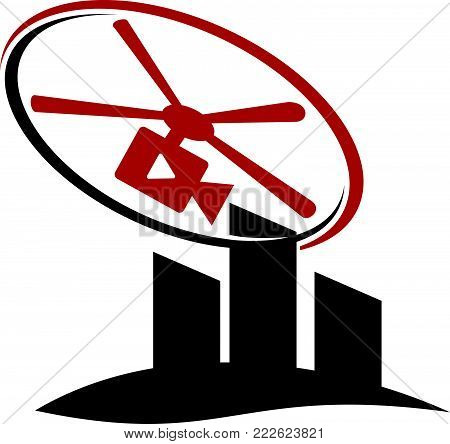 Aero Photography Logo Design Template Vector Isolated
