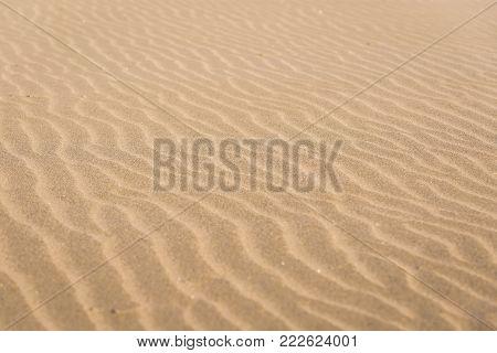 Details of sand on Atlantic Ocean Cabedelo Beach in Viana do Castelo, Portugal