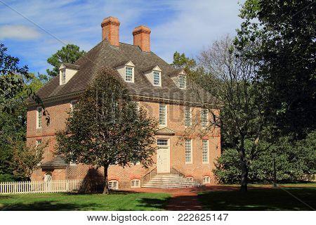 Williamsburg, Va - October 6: Established In The Seventeenth Century, The College Of William And Mar
