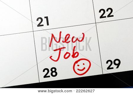 Mark the calendar to go to a new job