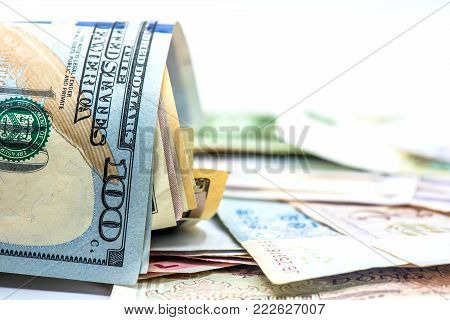 US Dollar currency, Banknotes of America, money and finance