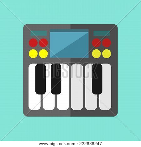 Mini Synthesizer Keyboard Vector Illustration Graphic Design
