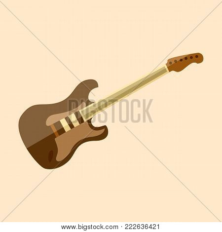 Electric Stratocaster Guitar Vector Illustration Graphic Design